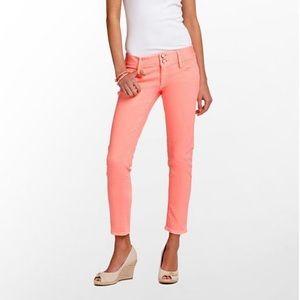 Lilly Pulitzer Worth Skinny Mini Lt Orange Jeans 6
